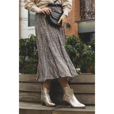 Adini Blair Printed Midi Skirt - Beige