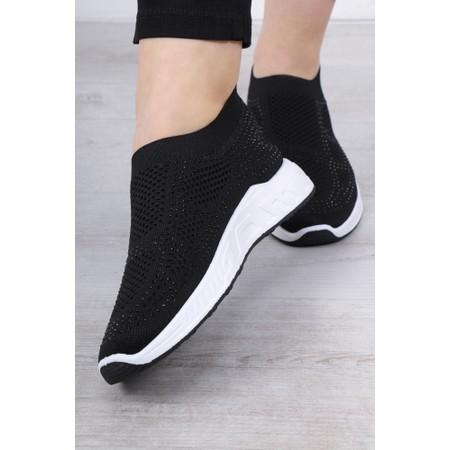 Livshu Malmo Knitted Trainer Shoe - Black