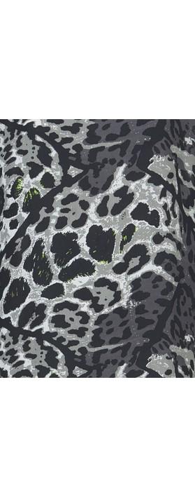 Masai Clothing Nada Animal Print Dress Peridot