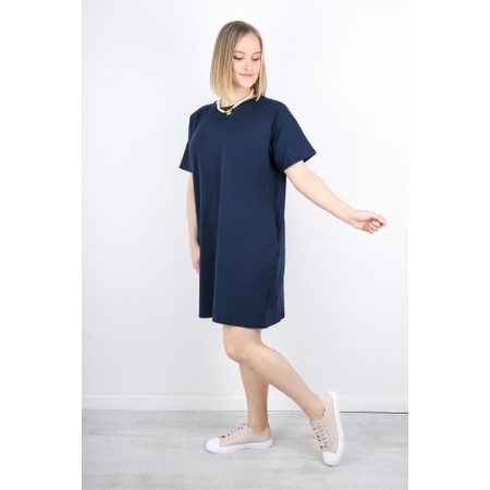 Chalk Linda Plain Dress - Blue