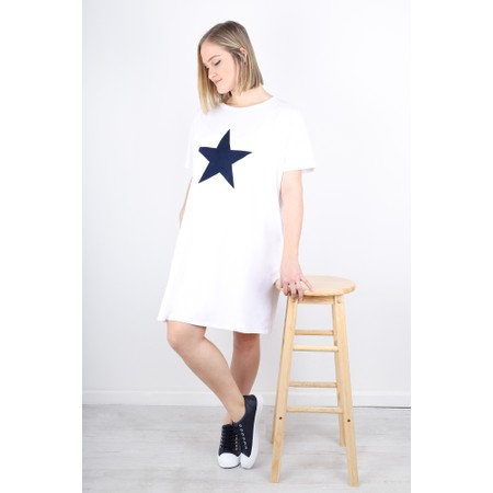 Chalk Linda Star Dress - White