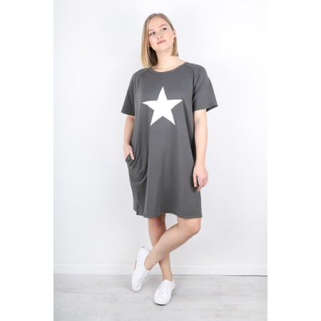 Chalk Linda Star Dress - Grey