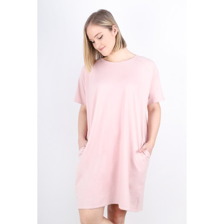 Chalk Linda Plain Dress - Pink