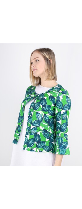 Adini Hattie Cardigan Parrot Green