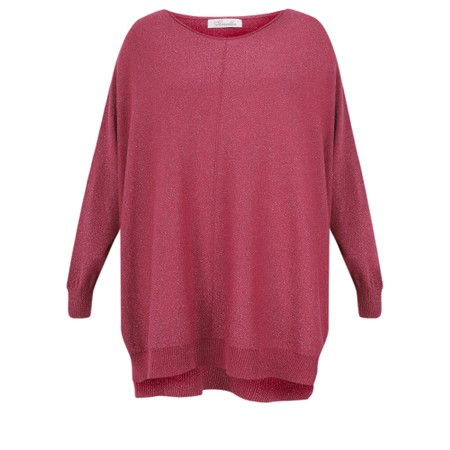 Fenella  Louie Supersoft Metallic Knit Jumper - Red