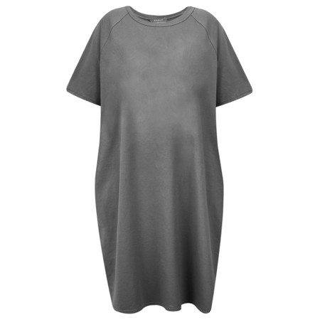 Chalk Linda Plain Dress - Black