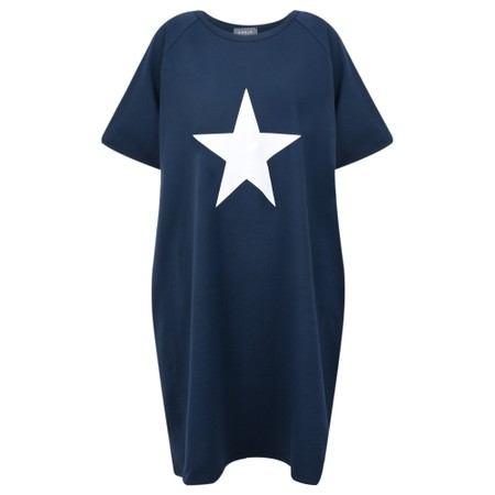 Chalk Linda Star Dress - Blue