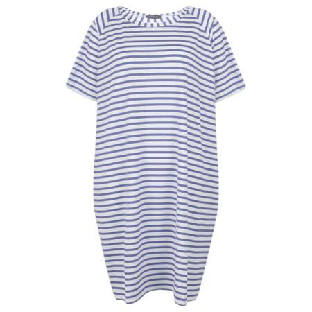 Chalk Linda Stripe Dress - Blue