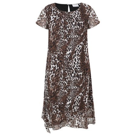 Foil Party Animals Dress - Brown