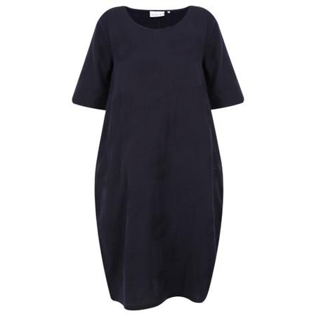 Foil Jacquard Potatoes Dress - Blue