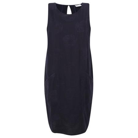 Foil Easy Breezy Linen Dress - Blue