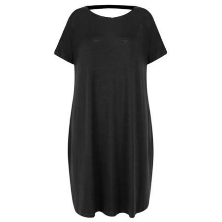 Foil Subtle Statements Swing Dress - Black