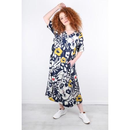 Sahara Wild Flower Linen A-Line Dress - Multicoloured