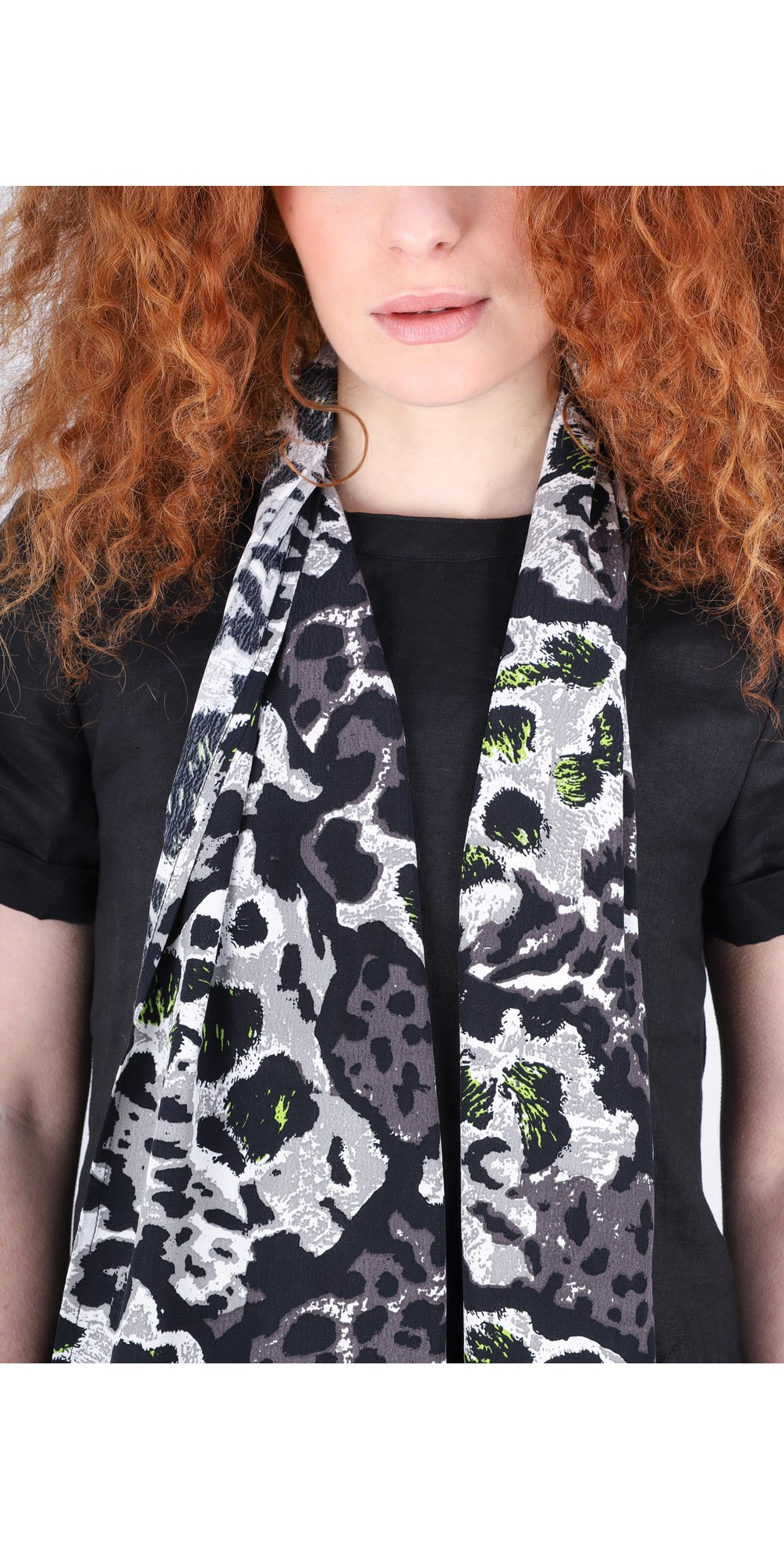 Along Animal Print Scarf main image