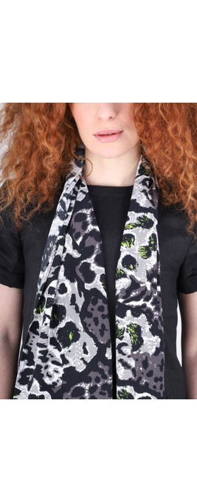 Masai Clothing Along Animal Print Scarf Peridot