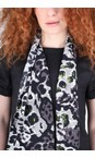 Masai Clothing Peridot Along Animal Print Scarf