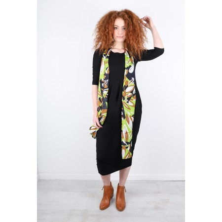 Masai Clothing Along Abstract Floral Scarf - Green