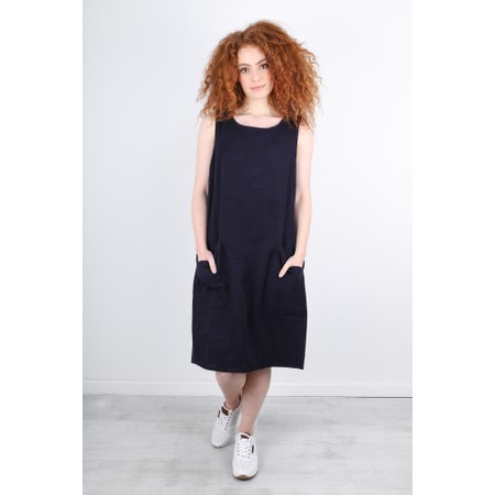 Foil Easy Breezy Linen Dress - Blue