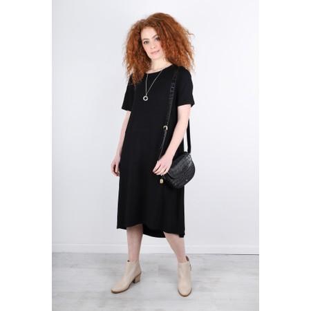 Foil Subtle Statements Jersey Lantern Dress - Black