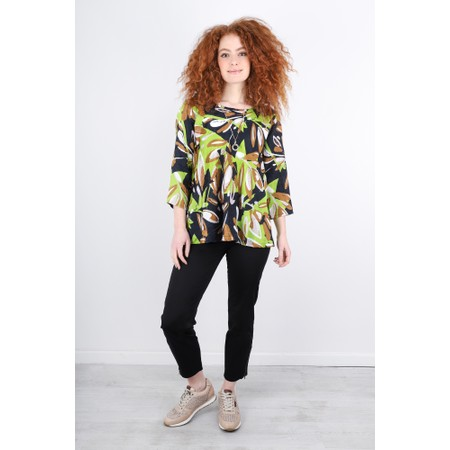 Masai Clothing Kia Abstract Floral Top - Green