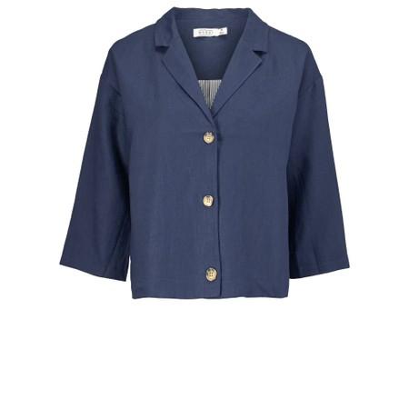 Masai Clothing Jade Linen Jacket - Blue