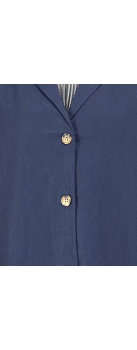 Masai Clothing Jade Linen Jacket Medieval Blue