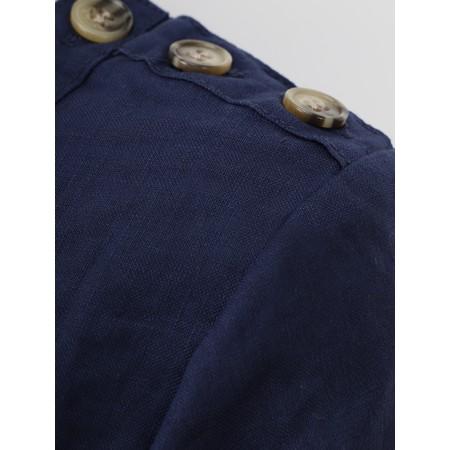 Masai Clothing Nalani Linen Dress - Blue