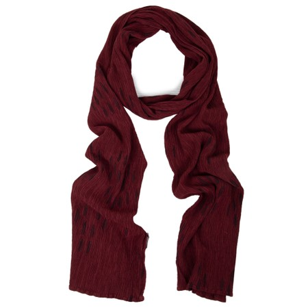 Grizas Aras Crinkle Animal Print Scarf - Red