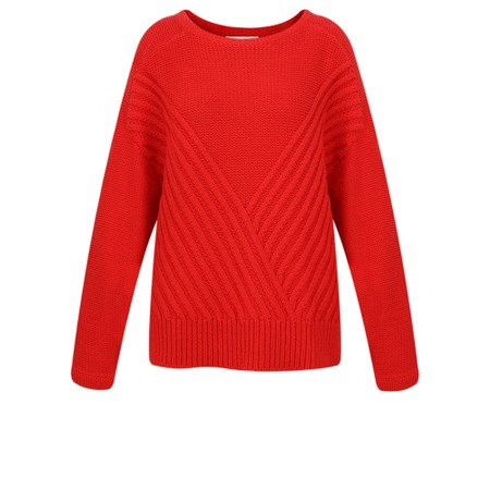 Sandwich Clothing Cross Chunky Knit Jumper - Red