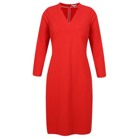 Sandwich Clothing Fitted V-Neck Dress - Red