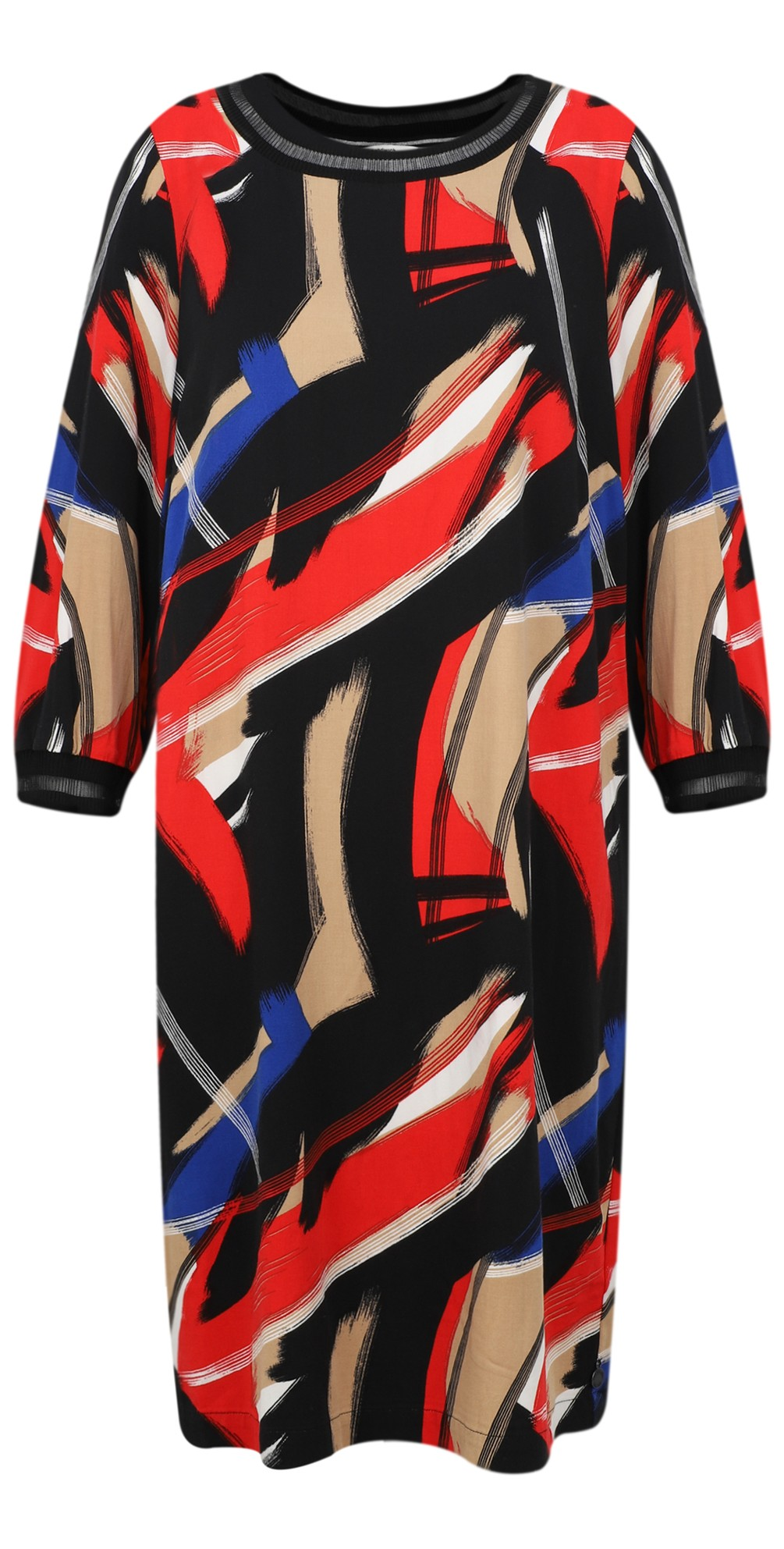 Abstract Brush Stroke Print Dress main image