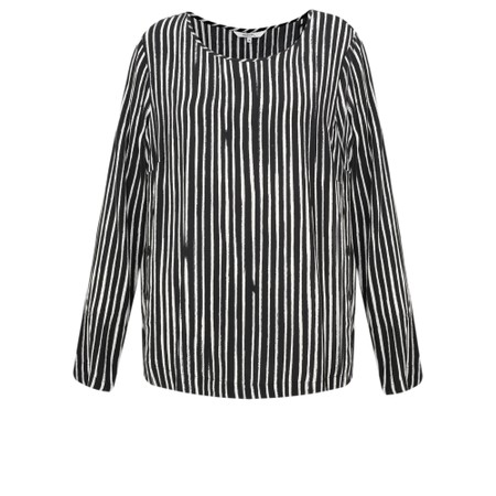 Sandwich Clothing Painted Stripe Print Blouse - Black