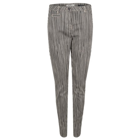 Sandwich Clothing Striped Slim-fit Oslo Trousers - Beige