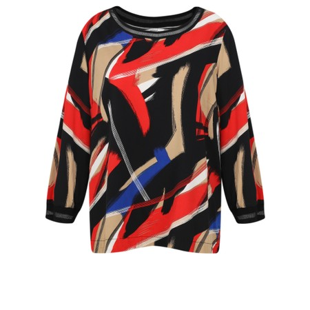 Sandwich Clothing Abstract Brush Stroke Print Top - Red
