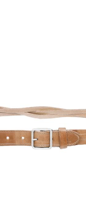 Sandwich Clothing Woven Belt Camel