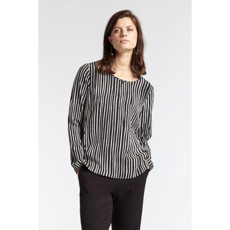 Sandwich Clothing Painted Stripe Print Blouse - Black