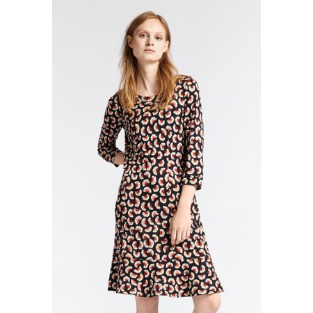 Sandwich Clothing Floral Print Fit and Flare Dress - Black