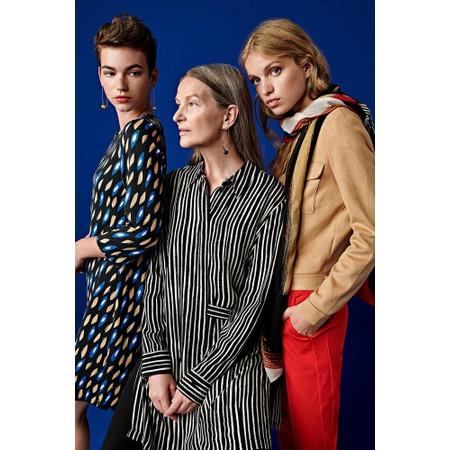 Sandwich Clothing Abstract Geometric Print Dress - Blue