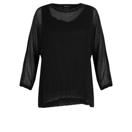Grizas Emilis Devore Spot Top - Black