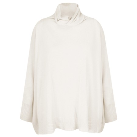 Fenella  Nina Supersoft Roll Neck Jumper  - Off-White