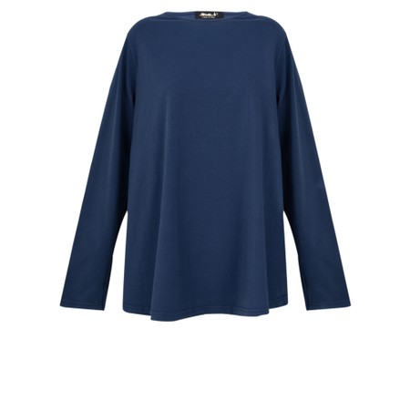 Mama B Kigali Top With Frill Back - Blue