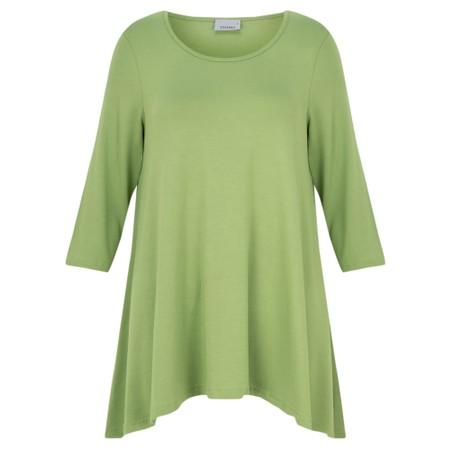 Thing A-Shape Three Quarter Length Sleeve Top - Green