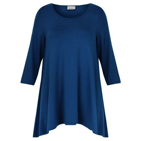 Thing A-Shape Three Quarter Length Sleeve Top - Blue