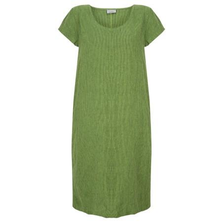 Thing Striped Linen Shift Dress - Green