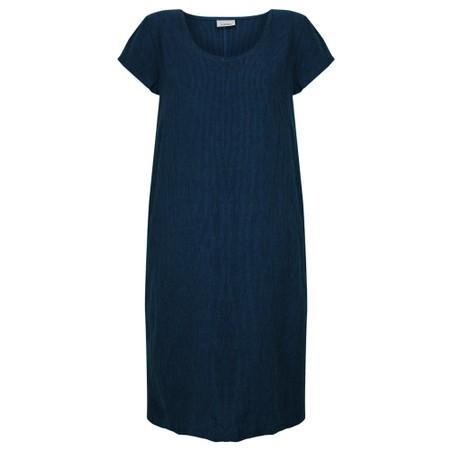 Thing Striped Linen Shift Dress - Blue