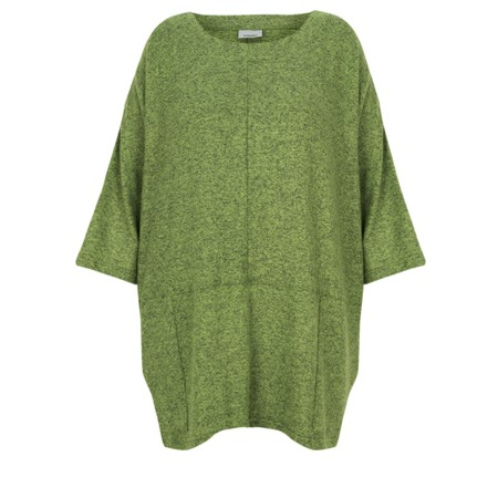Thing Oversized Two Pocket Slouch Top - Green