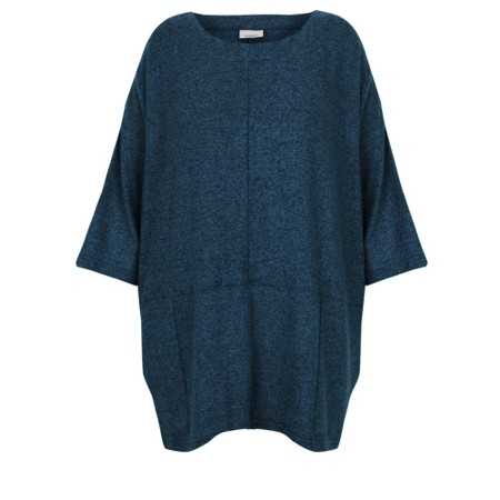 Thing Oversized Two Pocket Slouch Top - Blue