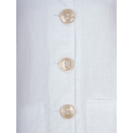 Thing Button Front 2 Pocket Jacket - White