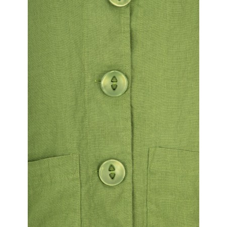Thing Button Front 2 Pocket Jacket - Green