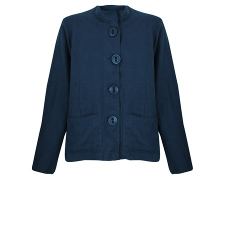 Thing Button Front 2 Pocket Jacket - Blue
